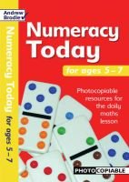 Numeracy Today for Ages 5-7 - Photocopiable Resources for the Numeracy Hour (Paperback): Andrew Brodie
