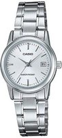 Casio Ladies Standard Analogue Wrist Watch (Silver):