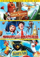 Animation Triple Feature - Open Season / Cloudy With A Chance Of Meatballs / Surf's Up (DVD):
