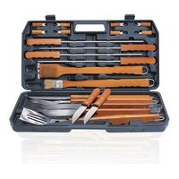 Alva Deluxe Wood BBQ Set (21 Piece):