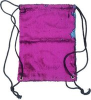 Sequin Drawstring Backpack (Hot Pink & Blue):