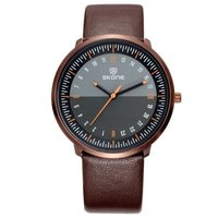 skone kensington mens watch-orange & rose gold: