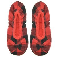 Snoozies® Red Black Ballerina Plaid: