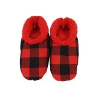Snoozies!® Men's Red Black Buffalo Plaid: