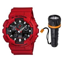 Casio G-SHOCK GA-100B-4A Analog-Digital Men's Watch: