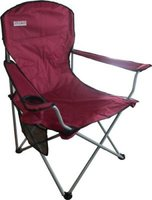 Bushtec Oversized Folding Chair (Red) (120kg):