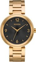 Nixon Ladies Chameleon Analog Watch (Gold & Black):