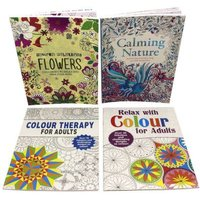Adult Colouring 4-Book Collection (Paperback):