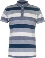 Pierre Cardin Mens Yarn Dye Jersey Polo Shirt (Teal, Denim and White):