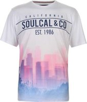 SoulCal Mens Sublime T-Shirt (Blue and Pink):
