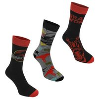 Character Juniors Jurassic World 3 Pack Crew Socks: