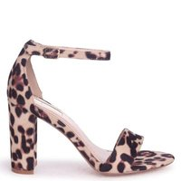 Linzi Ladies NELLY Single Sole Block Heel - Natural Leopard: