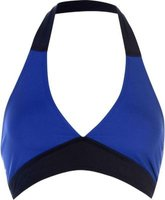 Golddigga Ladies Panel Bikini Top  - Blue:
