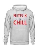 JuiceBubble Netflix and Chill Ladies Grey Hoodie: