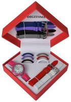 Digitime Women's Triangle Ring & Strap Set:
