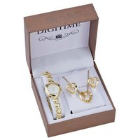 Digitime Women's Watch & Jewellery Set:
