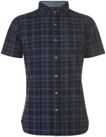 Firetrap Mens Short Sleeve Check Shirt - Black Check [Parallel Import]: