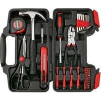Casals 39 Piece Steel Hand Tool Set (Red):