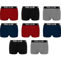 Pierre Calvini Mens 8 Pack Hipster Mixed Colours Boxers: