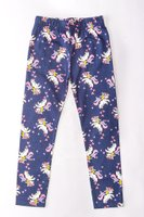 Unicorn Printed Leggings (Navy):