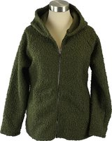 UB Creative Buclé Hoodie Jacket (Green) (One Size):