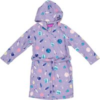 Pre-Girls Fluffy Gowns (Multi Print Lilac):
