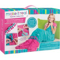 Make It Real Fashion Collection Knot & Bling Mermaid Tail Blanket: