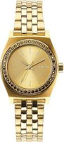Nixon Ladies Small Time Teller Analog Watch (All Gold Crystal):