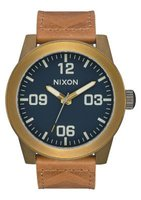 Nixon Gents Corporal Analogue Watch (Brass & Navy & Hickory):