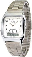 Casio Men's Retro Classic Analogue-Digital Wrist Watch (Silver):
