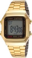 Casio Digital Stainless Steel Wrist Watch (Gold):