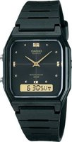 Casio Square Analog & Digital Wrist Watch (Black):
