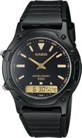 Casio Standard Retro Analogue-Digital Wrist Watch (Black):