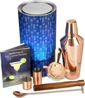 Gin Tribe Manhattan Copper Cocktail Shaker Set (7 Piece):