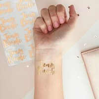 Pick & Mix - Gold Foiled Temporary Tattoos: