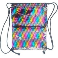 Sequin Drawstring Backpack (Multi-Colour):