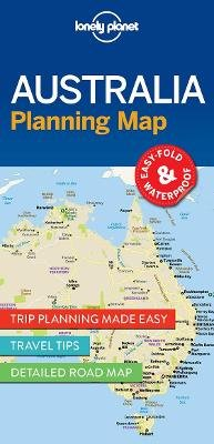 lonely planet australia planning map sheet map 9781786579089
