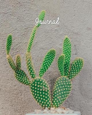 Journal - Blank Lined Notebook 8x10 Cactus Succulent Plant Garden (Paperback): Harvest Journals