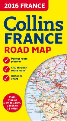 2016 Collins Map of France (Sheet map, folded, New edition): Collins Maps