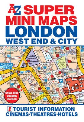 A-Z Super Mini Map 2012 - London West End & City (Sheet map, folded, 2nd edition): Geographers' A-Z Map Company