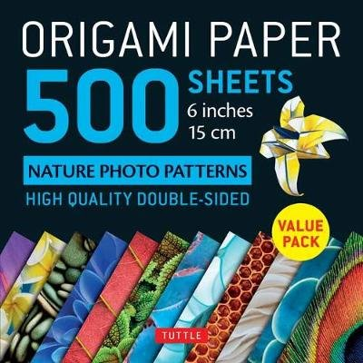 Origami Paper 500 sheets Nature Photo Patterns 6 (15 cm) (Loose-leaf): Tuttle Publishing