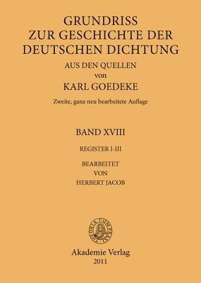 Grundriss Zur Geschichte V 18 Reg I-III (German, Hardcover): Jacob