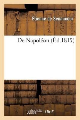 de Napoleon (French, Paperback): Etienne Senancour (De)