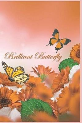 Brilliant Butterfly - 124 Page Softcover, Has Lined Pages with a Border, College Rule Composition (6 (Paperback): Purple...