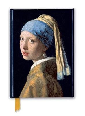 Johannes Vermeer: Girl with a Pearl Earring (Foiled Journal) (Notebook / blank book): Flame Tree