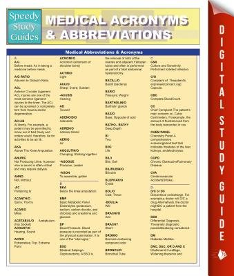 Medical Abbreviations & Acronyms (Speedy Study Guides) (Electronic book text): Speedy Publishing
