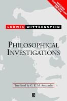Philosophical Investigations (English, German, Paperback, 2Rev ed): Ludwig Wittgenstein, Richard Wall