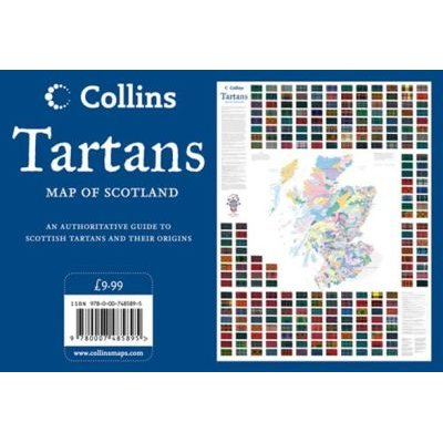Tartans Wall Map of Scotland (Sheet map, rolled): Collins Maps