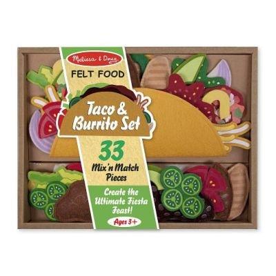 Felt Food Taco & Burrito Set (Multiple languages, Novelty book): Melissa & Doug
