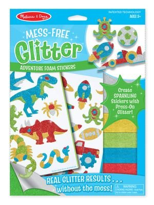 Melissa & Doug Arts and Craft - Mess Free Glitter Foam Stickers (Adventure):